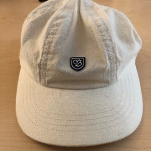 Brixton White Leather Strapback Hat